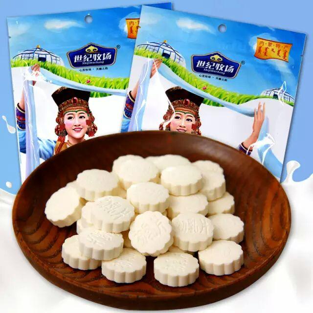 世纪牧场草原牛奶贝256g 内蒙古特产干吃奶片儿童零食奶酪含乳片