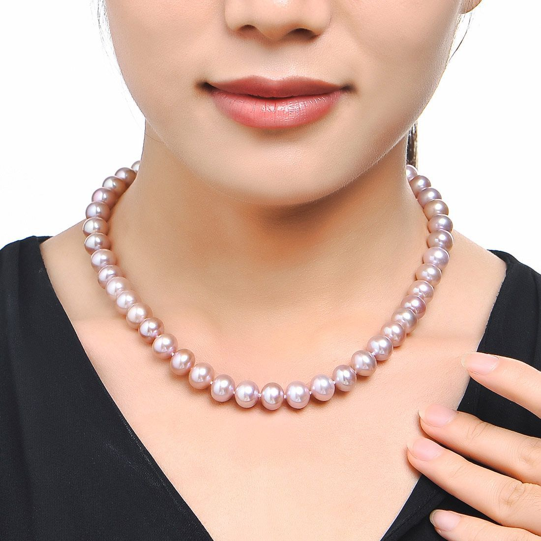 北海珍珠批发  10-11mm近正圆天然淡水珍珠项链