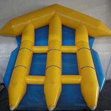 充气水上飞鱼充气香蕉船水上多排冲浪飞鱼水上乐园娱乐玩具气模