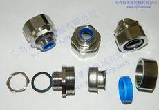 宝鸡福莱通专业生产供应金属软管接头, 镀铬六角外丝,内丝,三柱,自固式接头,弯头,规格齐全
