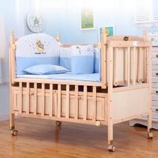WBB148实木婴儿床环保  摇篮床多功能儿童床新生儿