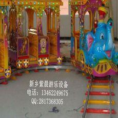 厂家专业设计定做豪华款大象轨道小火车游艺设施