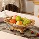 欧式水果盘创意家居装饰品摆件树脂工艺品桌面摆设果篓器皿奢华