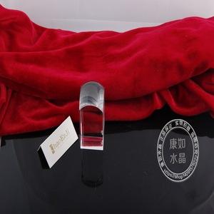 厂家直销水晶优质摆件 水晶工艺品 水晶胎毛印章创意礼品办公摆件
