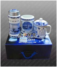 厂家供应青花陶瓷茶杯 会议杯子