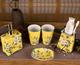 供应新中式手工彩绘陶瓷小花插牙刷座卫浴用品摆件家居用品陶瓷工艺品