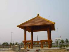 水泥仿木护栏  郑州天目工艺供应仿木凉亭