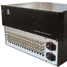 纵横天成16进48出SDI分配器支持标清高清3G信号 插卡式结构