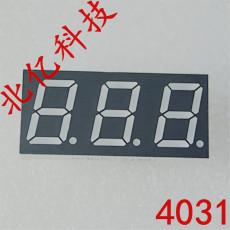 0.4寸三位数码管 动态七段数码管厂家价格 共阴共阳红光 30.1mm*16mm