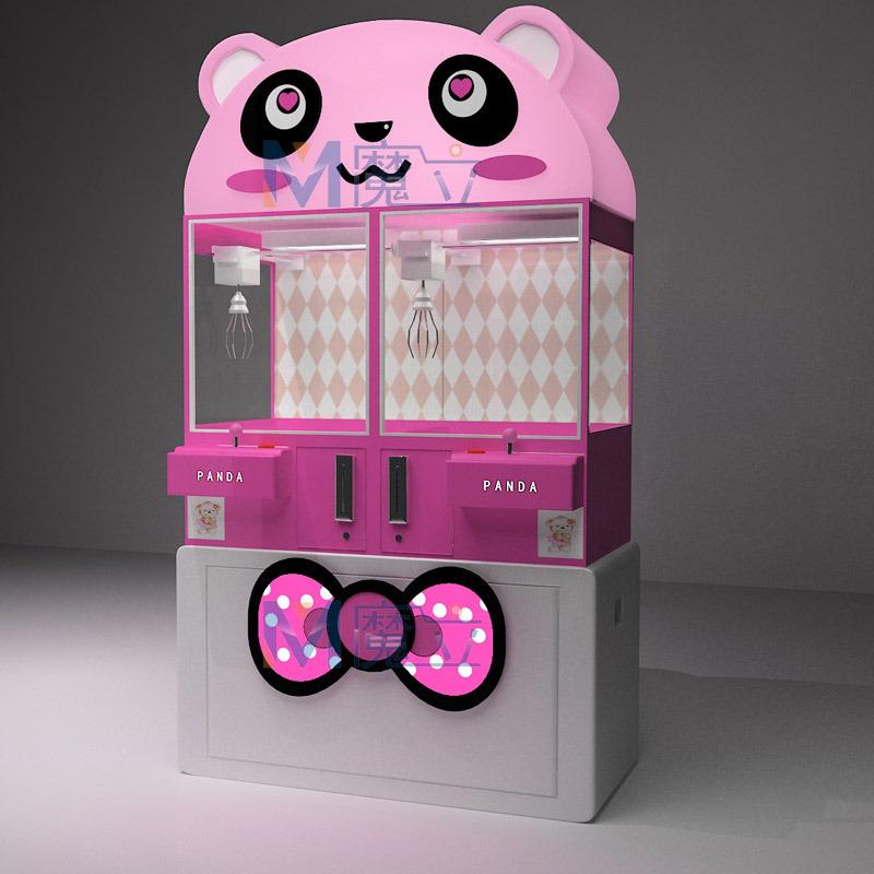 魔立商场超市可爱熊抓娃娃机抓烟机投币游戏机自动礼品售卖机贩卖机