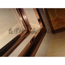 镜面玫瑰金不锈钢包厢门门框 豪华家居装饰门套 厂家直销