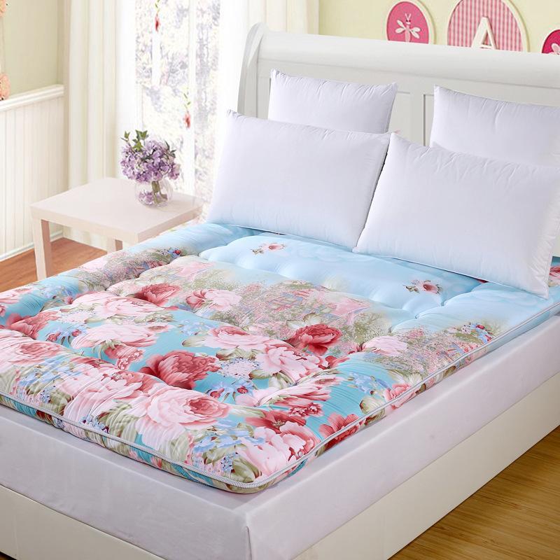 【厂家批发全棉加厚床垫 榻榻米床褥打地铺垫