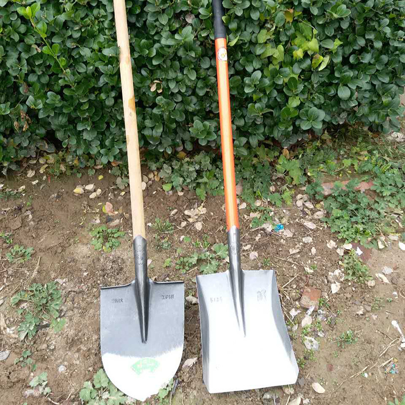 供应 厂家直销农用多功能尖头铁锹头加硬耐磨平头方锹抛光大泥锹窄铁锹