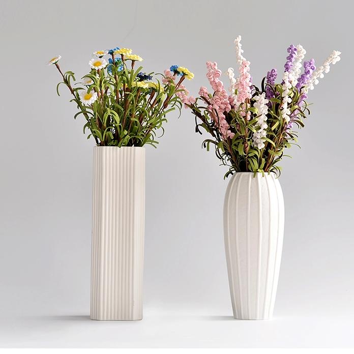 供应陶瓷创意时尚白色花瓶现代简约瓷器客厅摆件
