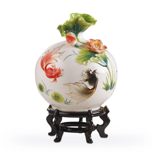 供应金玉满堂景德镇陶瓷花瓶摆件客厅装饰品