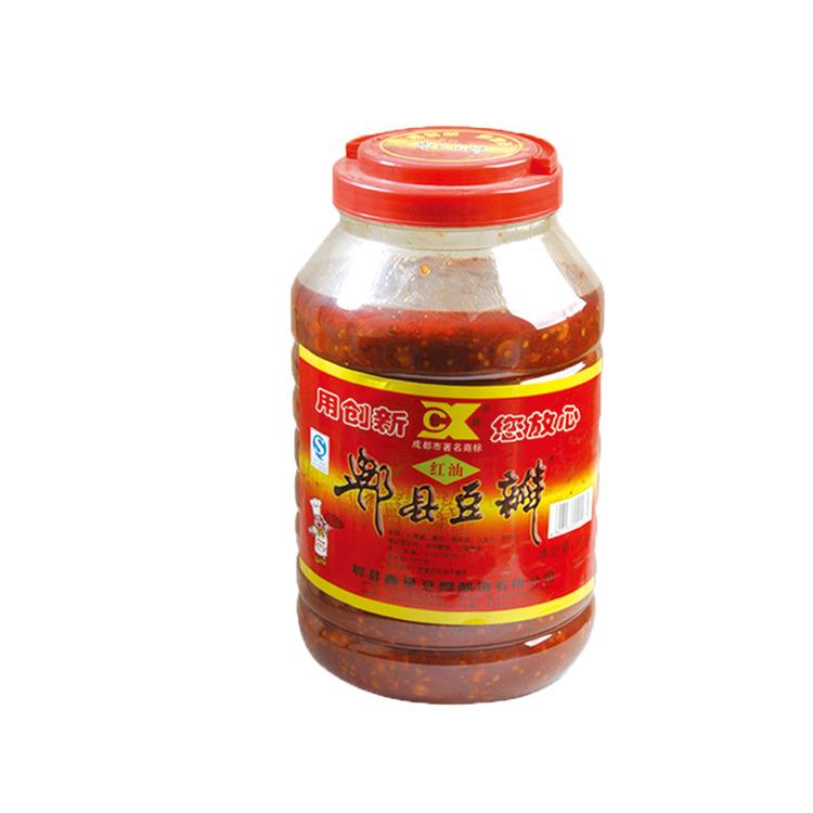 川菜调味品 郫县豆瓣 袋装 创新牌红油豆瓣瓶装4kgX4   件