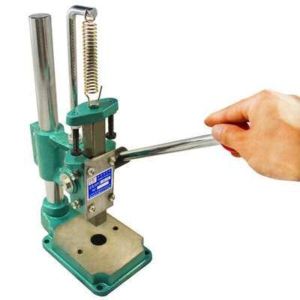 小型工业 手动压力机 打孔手扳手啤冲压机台式冲床压轴钻孔图片
