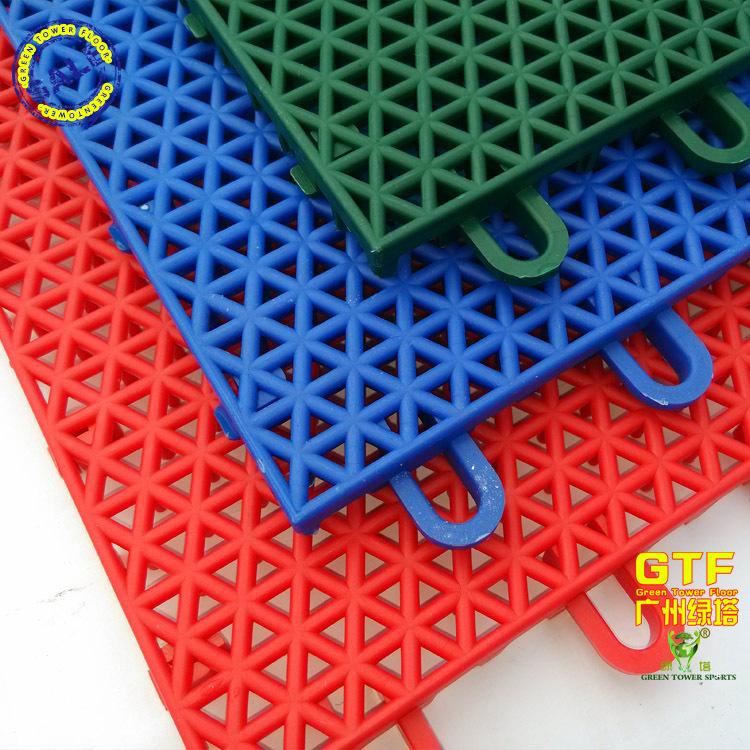 悬浮式拼装地板 圆柱米格地板 篮球场专用防滑耐磨抗压地板 安全环保地板