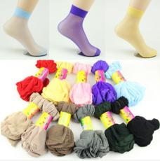 供应夏季超薄透明隐形水晶短丝袜(一捆10双)