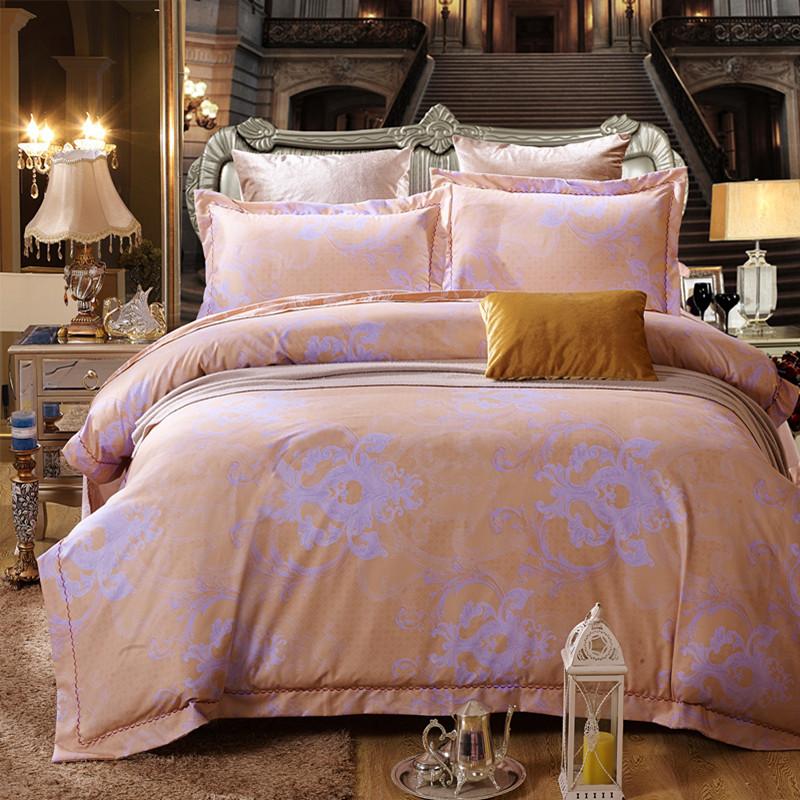 新款天丝棉四件套 仿提花印花 欧式浪漫典雅奢华床上用品厂家直销图片