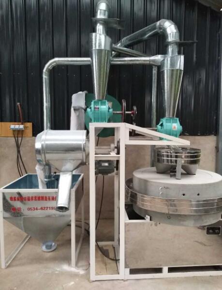 兰州榆中全自动石磨面粉机安装完工