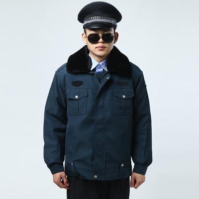 供应 小区物业保安棉服防寒保暖工作服