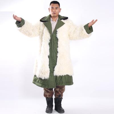 供应 羊毛真皮保暖防寒服加厚棉大衣