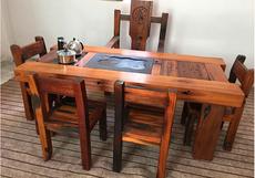 古船木茶桌椅组合茶台茶几实木茶桌会客桌仿古茶桌原生态家具