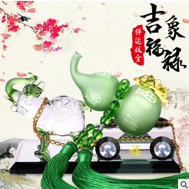 汽车香水车载座式香水座除异味车用车内吉祥葫芦饰品摆件用品