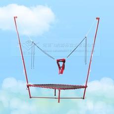 兒童蹦蹦床 鋼架蹦極床價格  廣場公園蹦極床  單人蹦極