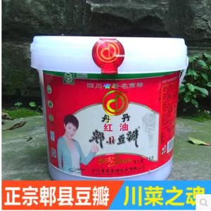 丹丹牌红油郫县豆瓣酱7kg桶装四川成都特产正宗餐饮清真饭店调料