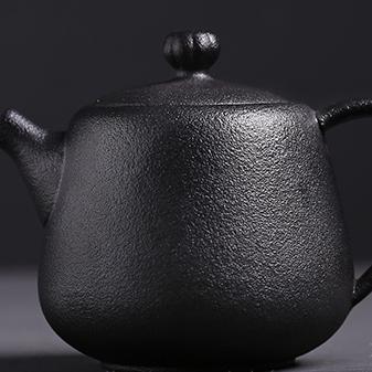 供应大润窑 黑陶便捷日式旅行陶瓷茶具一壶二杯家用茶具套装定制礼品