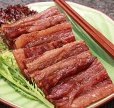 供应农家土特产五花腊肉酱油肉240g