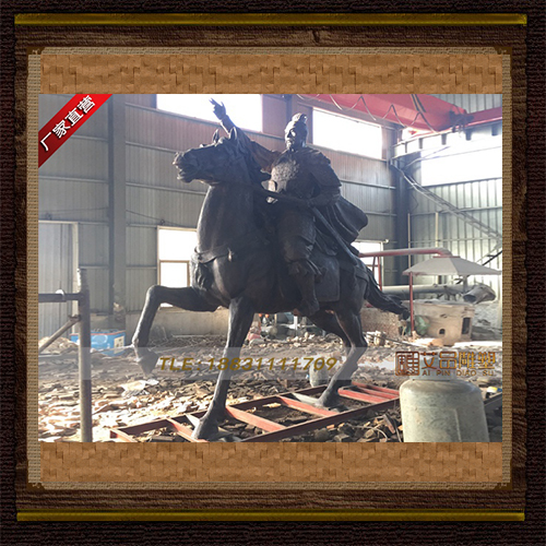供应 高4米郭峰将军铜雕 品牌雕塑     厂家直销