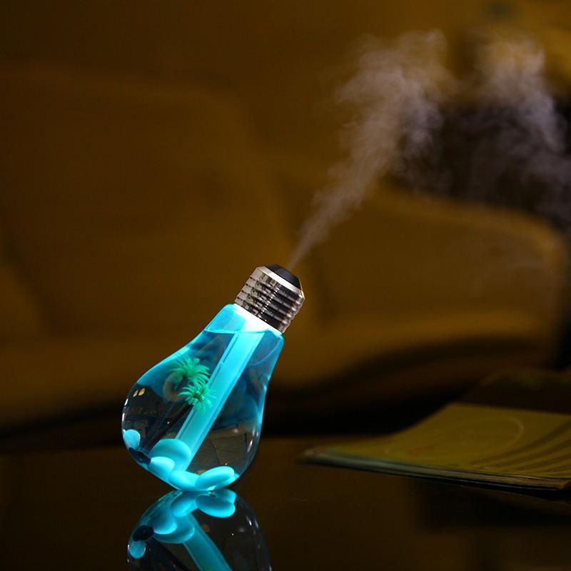 USB迷你灯泡加湿器 车载空气净化器