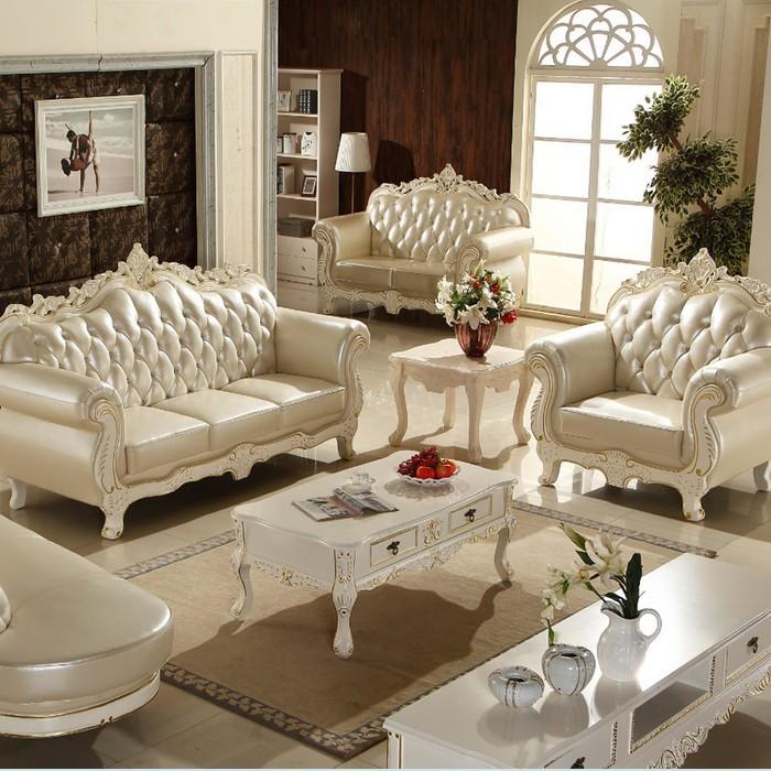 欧式真皮沙发客厅组合