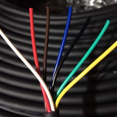 供应 7芯0.75平方电线挤压护套线高柔软耐折拖链工控仪表线缆