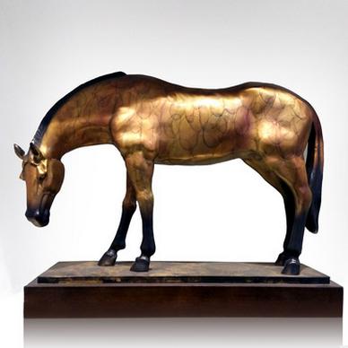 供应 专业生产纯铜艺术品 现代铜雕艺术品招财马