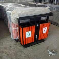 户外垃圾桶钢木垃圾桶 果壳箱环卫分类垃圾桶公园环保垃圾箱
