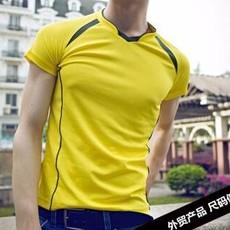 新款速干男式t恤短袖T恤定制户外男士运动装DIY订做外贸男装批发
