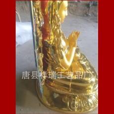 供应   厂家直销金属工艺品铸铜藏传1米宗喀巴彩绘贴金佛像