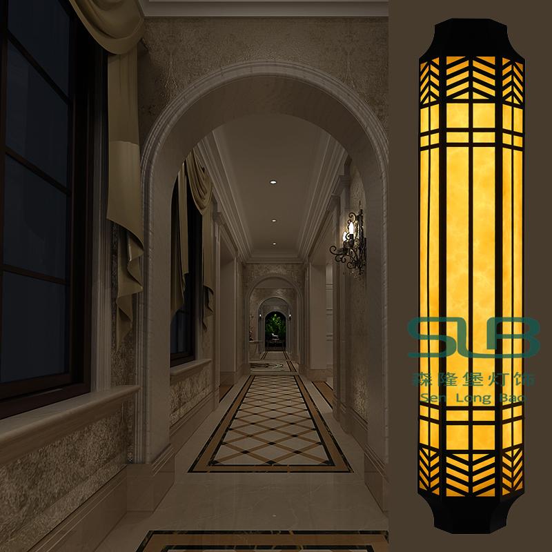 仿古壁灯户外防水壁灯酒店别墅工程防水不锈钢壁灯LED云石灯具