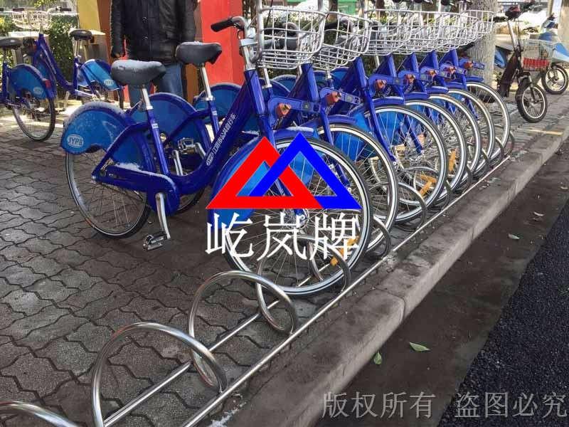 公共自行车停放架 圆笼式自行车停放架型号图片