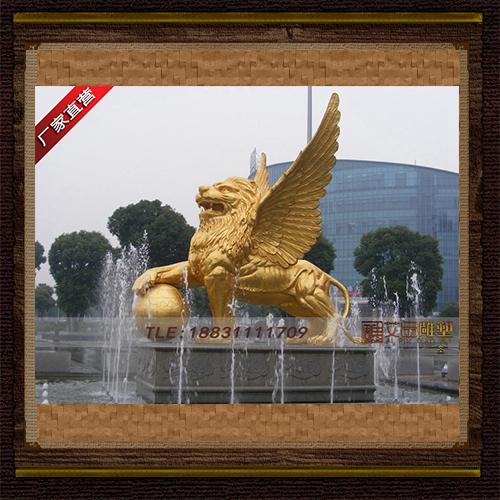 供应  飞狮铜雕像   品牌雕塑   厂家直销