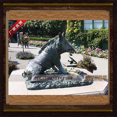 铸铜野猪雕塑 铜野猪定做 广场铜雕塑加工 动物铜雕定制厂家