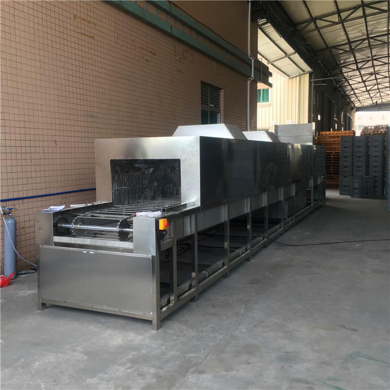 厂家直销高效除油除尘餐具周转箱喷淋清洗机 餐具周转箱清洗机厂家