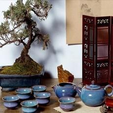 窑变茶具   卢钧窑近代创意新古典类茶具