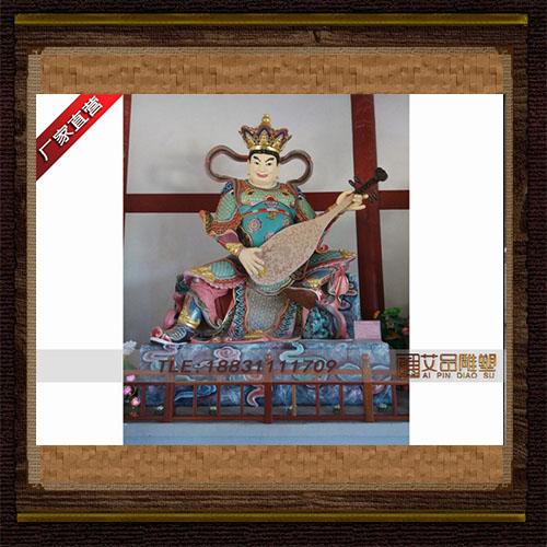 东方持国天王 四大天王铜雕塑 大型韦陀铜像 铸造寺庙人物