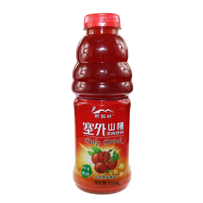 得意野狐岭饮料 山楂汁 果味果汁饮料整箱 550ml