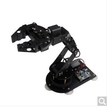 德飞莱 6自由度机械手臂 串行总线舵机机械臂机械爪 角度回读可编程教育 整套机械臂(成品)